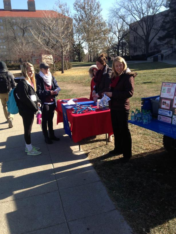 Table and volunteers at the Great American Smokeout